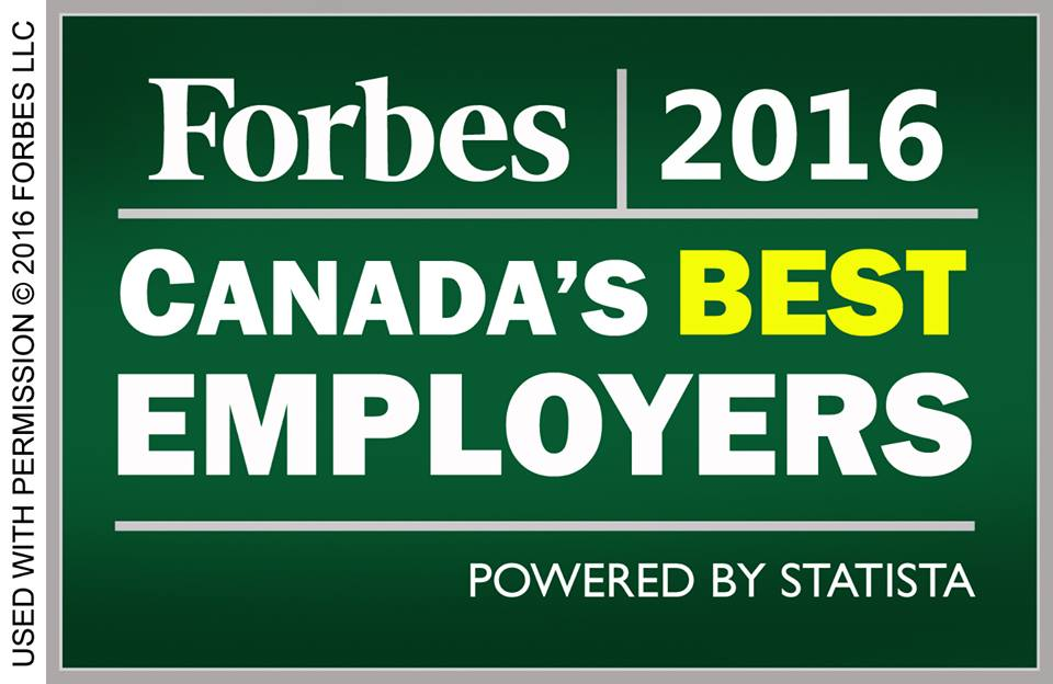 Forbes 2016 Canada's Best Employers
