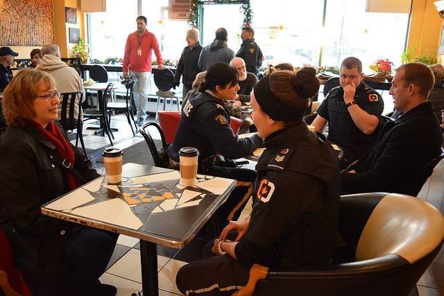 Coffee with a cop Newton