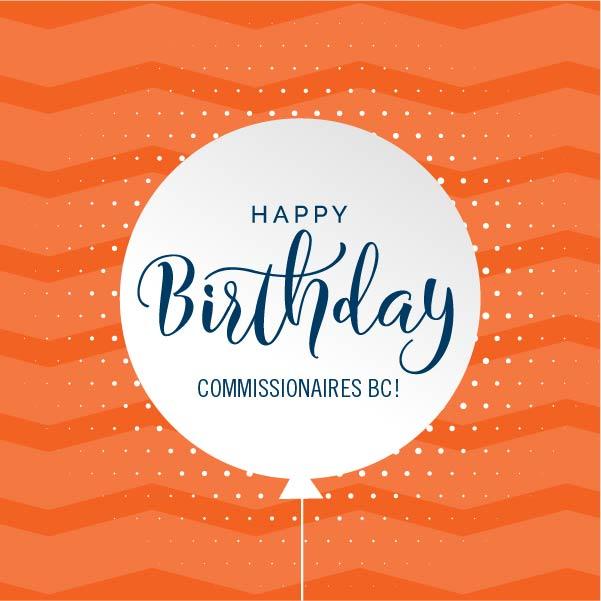 Happy Birthday Commissionaires BC!